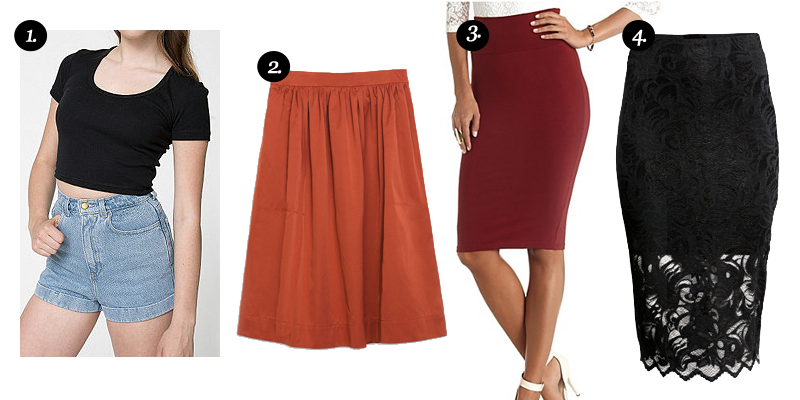 Crop Tops + Midi Skirts