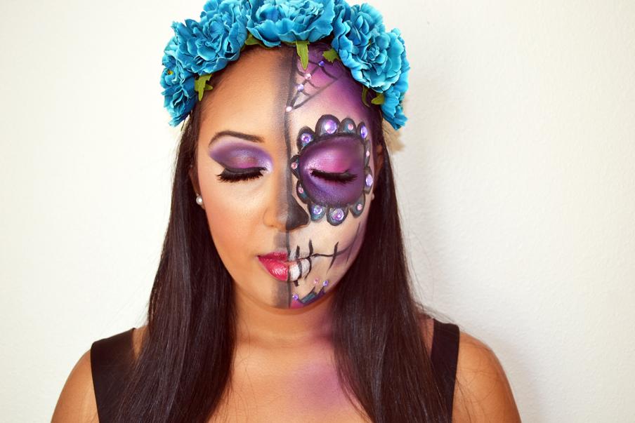 Glam Skull Halloween Look