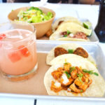 chicken taco, watermelon margarita