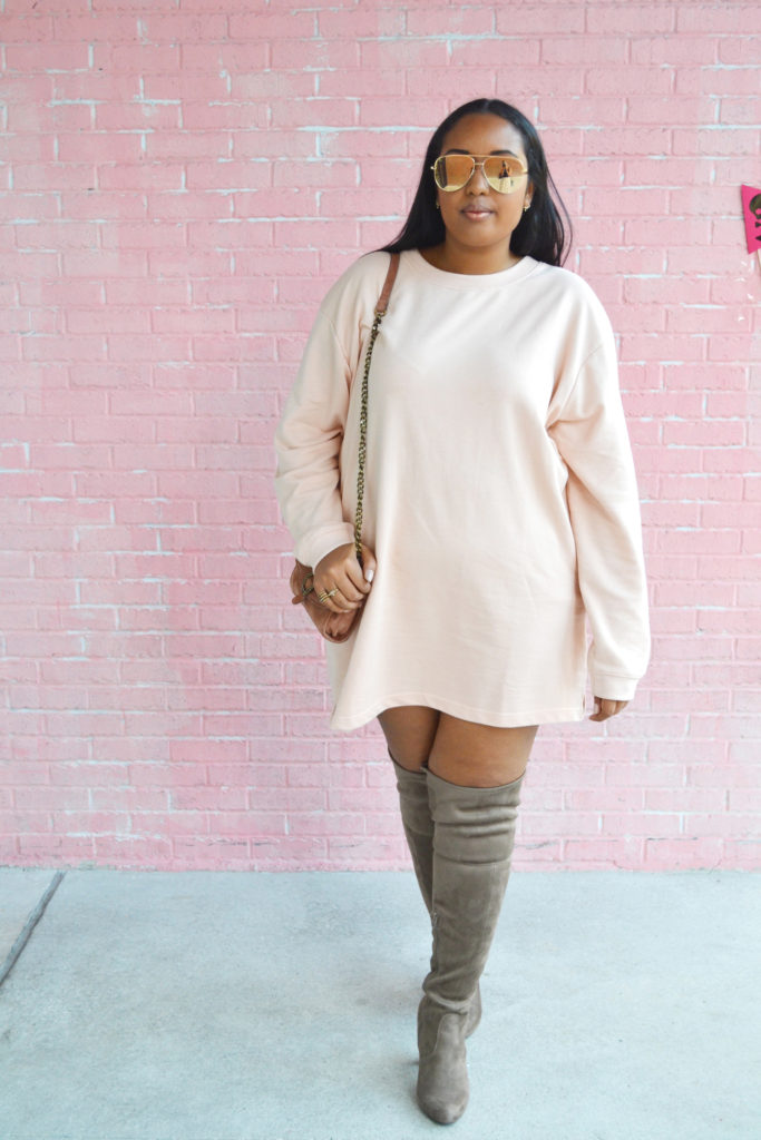 Ootd The Sweatshirt Dress From Nubiana With Love