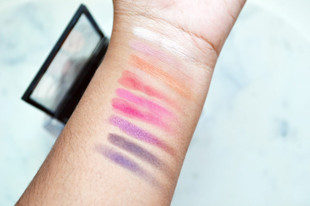 Eyes on MAC, Red Hot Times Nine swatches