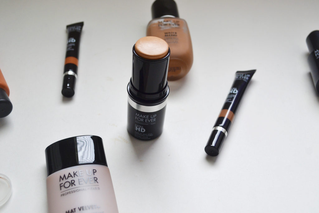 Make Up For Ever foundations, concealers