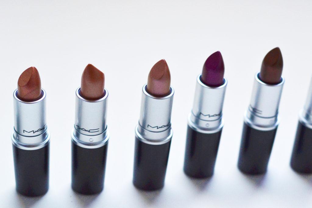 MAC metallic lipsticks