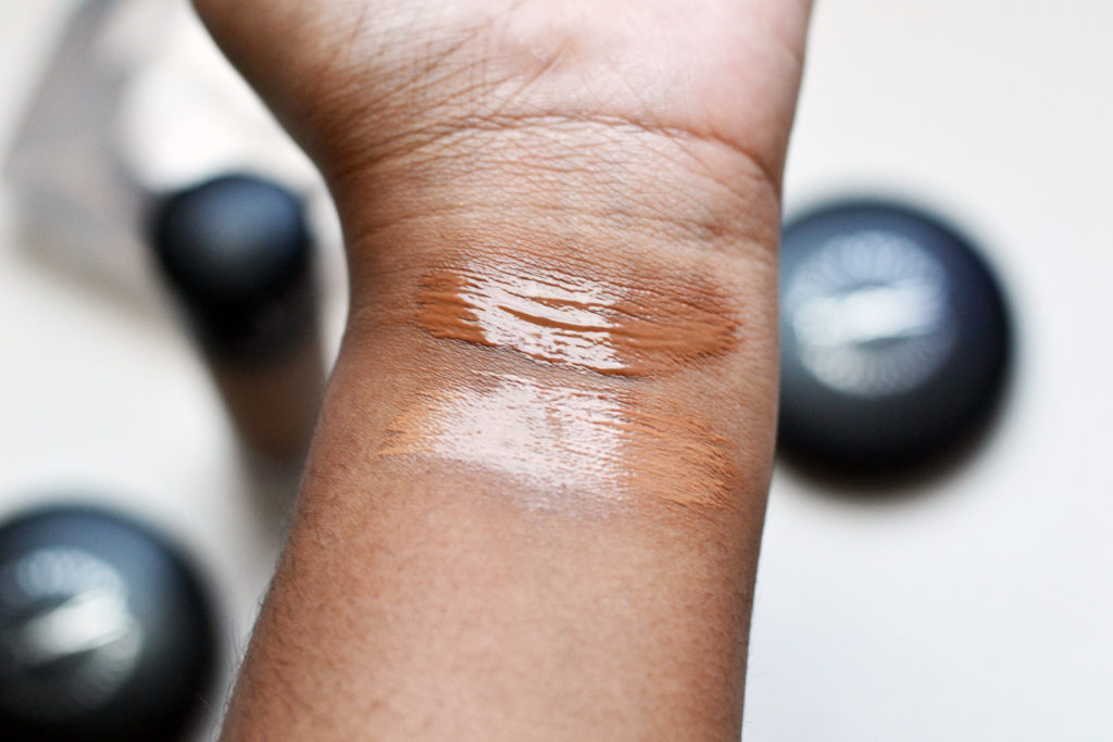 MAC Next To Nothing Face Colour Swatches