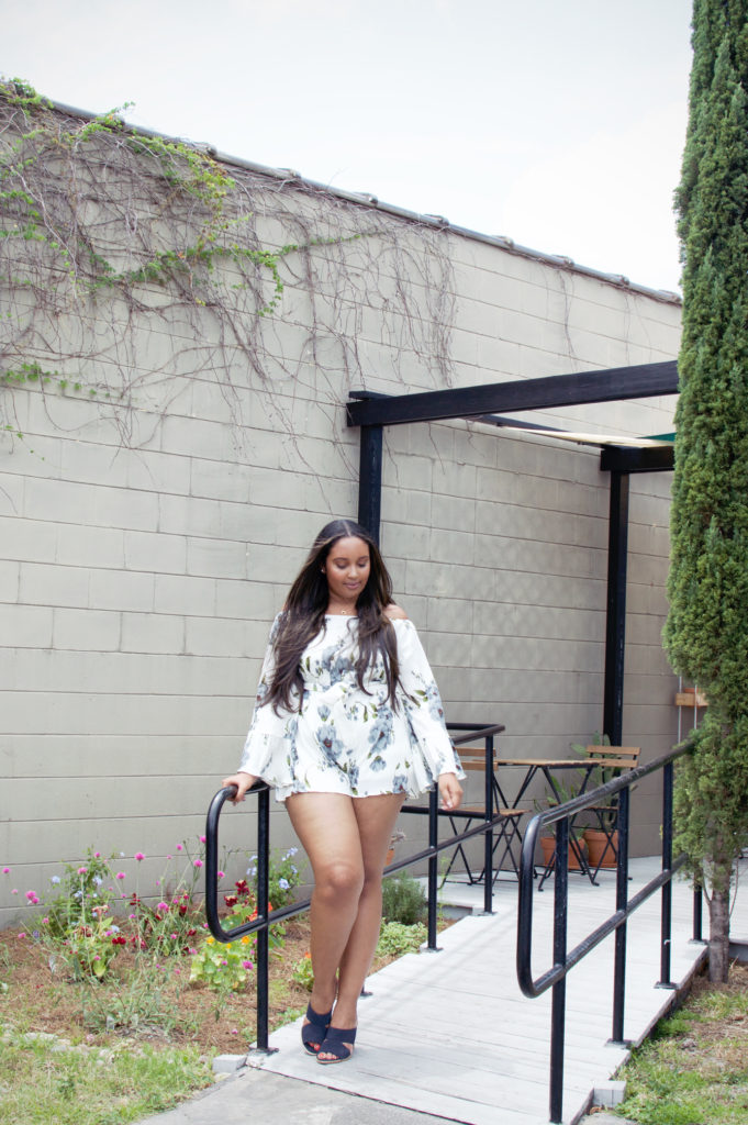 Missguided cheesecloth romper