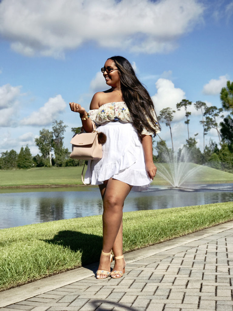#BlogHer17 conference at the Hilton Bonnet Creek in Orlando, FL | Zara top and sandals, J.Crew skirt