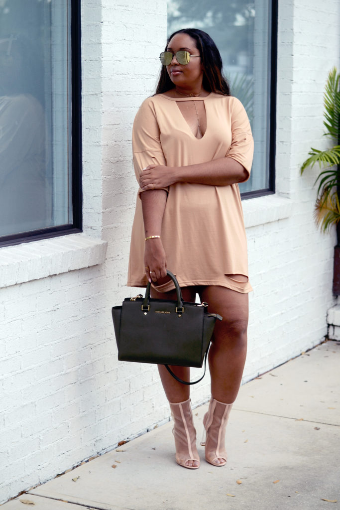 Distressed T-shirt Dress from Missguided
