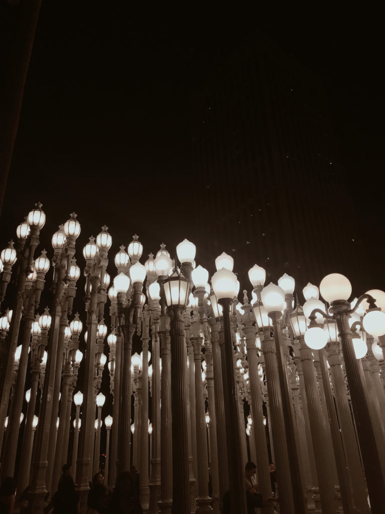 Most Instagrammable Spots in Los Angeles: LACMA Lights