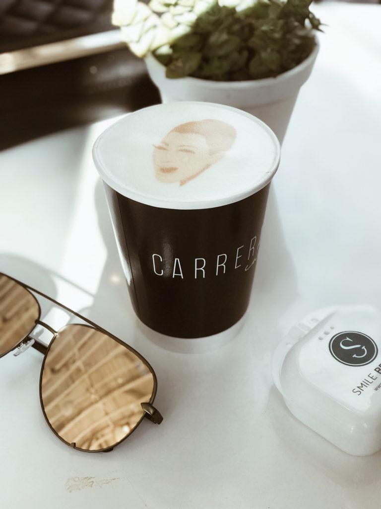 Most Instagrammable Spots in Los Angeles: Carrera Cafe, Kim Kardashian latte art