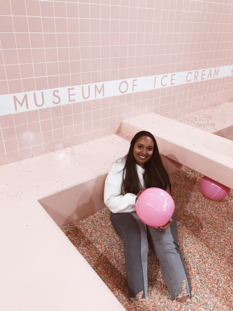 Most Instagrammable Spots in Los Angeles: Museum of Ice Cream sprinkle pool