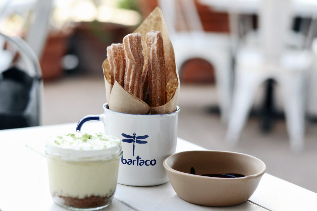 bartaco desserts - churros, key lime pie