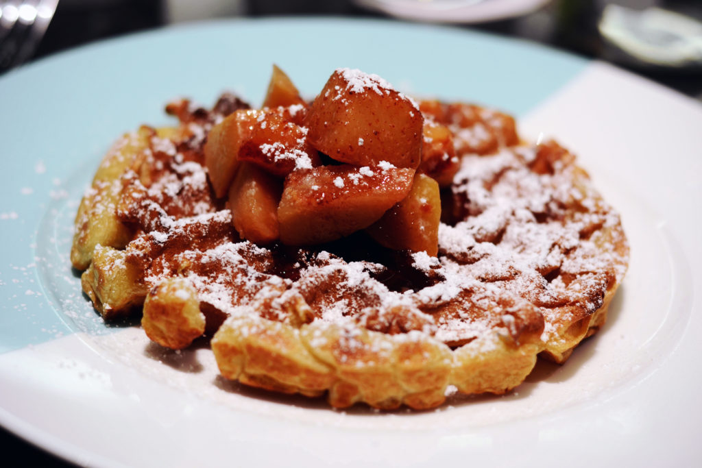 Breakfast at Tiffany's: My Experience at The Blue Box Cafe - Buttermilk Waffle