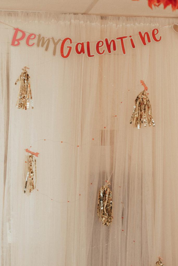 Be My Galentine event decor