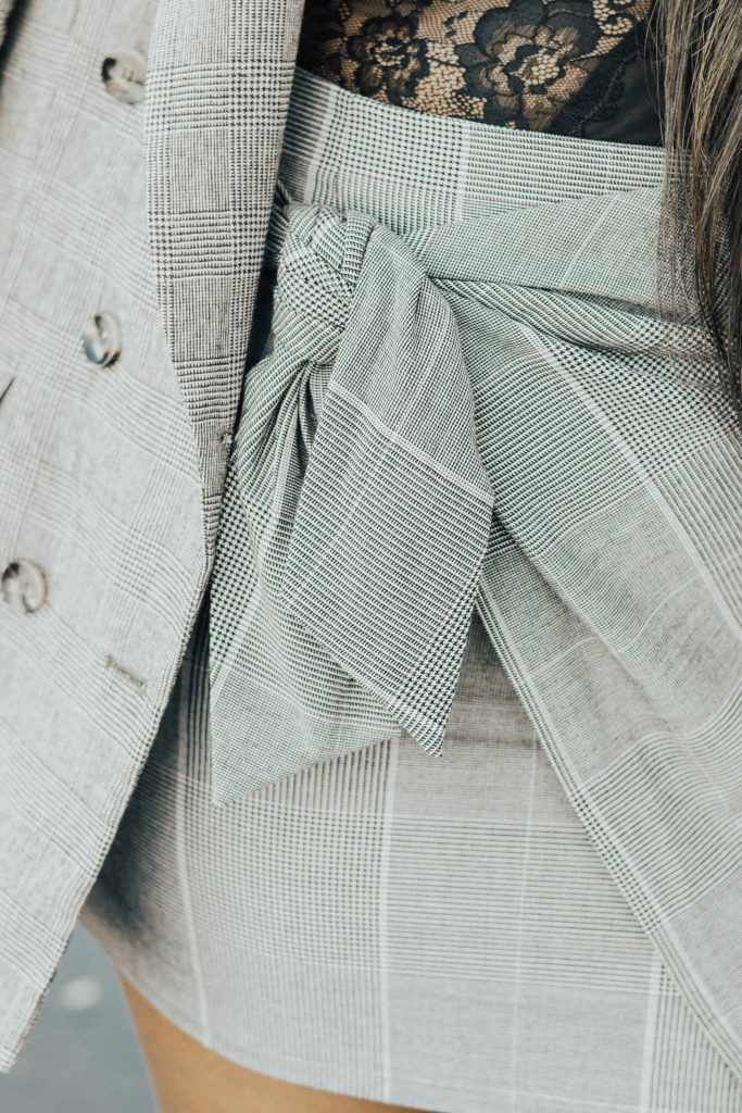 Glen Plaid Power Suit details