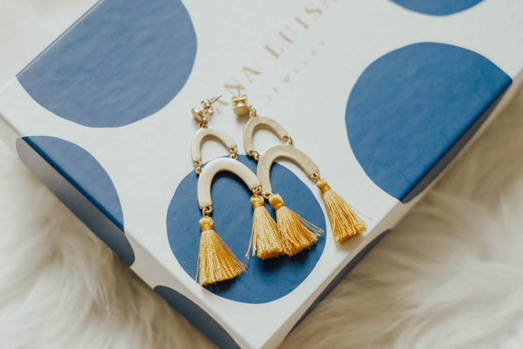 Ana Luisa Jewelry Review - GIVEAWAY of Olivia Yellow Earrings
