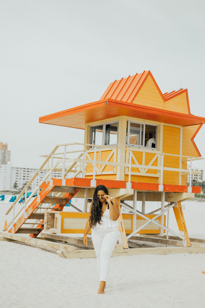 Miami Swim Week Lookbook // white bow top, white pants // summer style