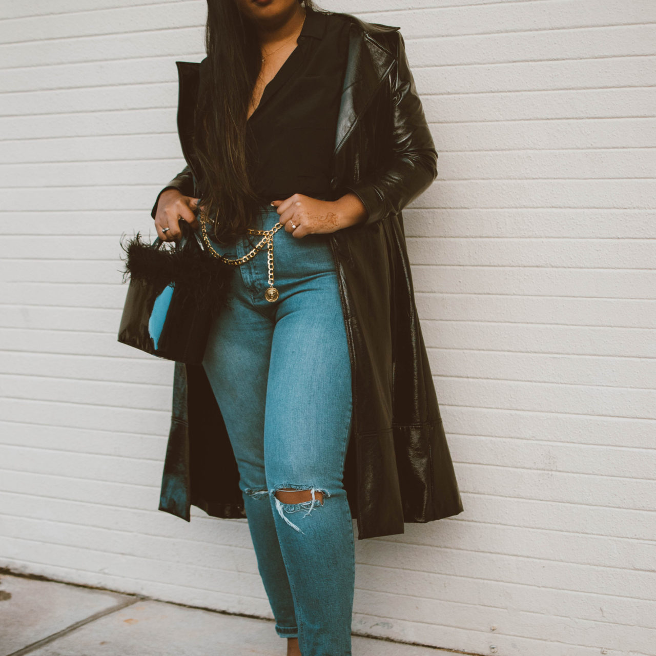 What's Trending: The Patent Leather Trench Coat