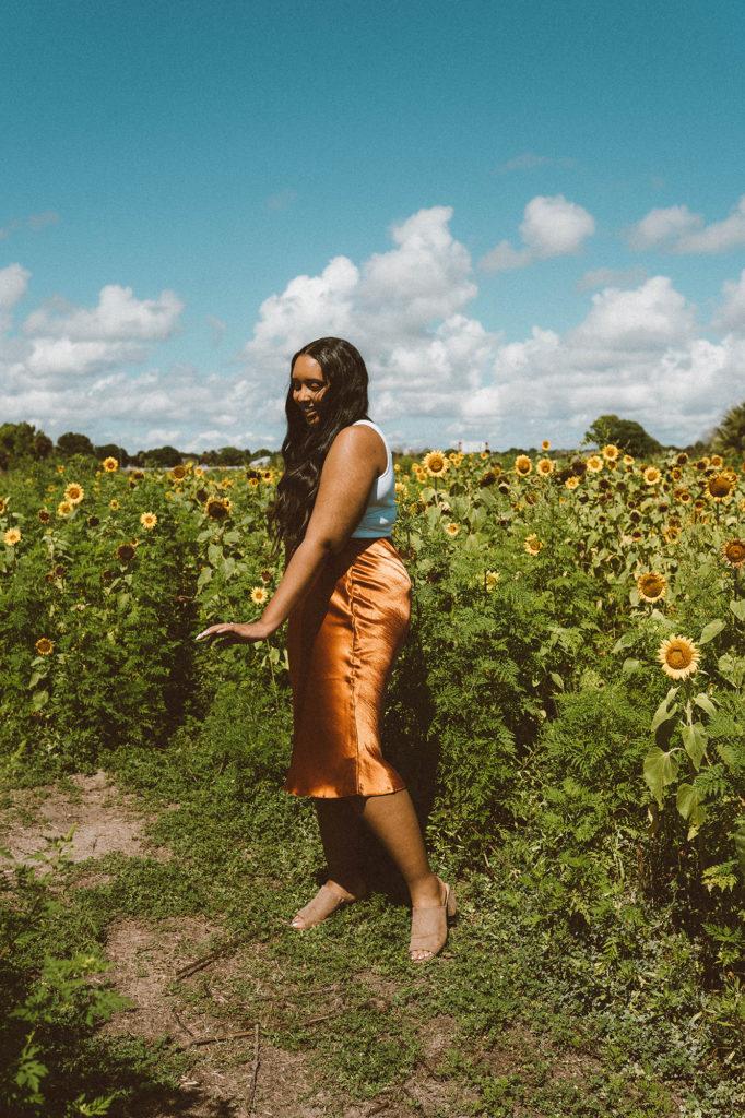 ASOS Design Bias Cut Satin Slip Midi Skirt | From Nubiana, With Love