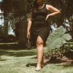 Audrey Leighton Vintage - Black Summer Wrap Dress