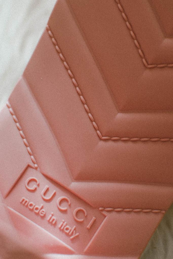 Gucci Pink Women's rubber slide sandal review