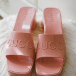 Gucci Pink Women's rubber slide sandal review