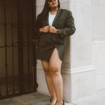 Cropped Blazer and Mini Skirt Set