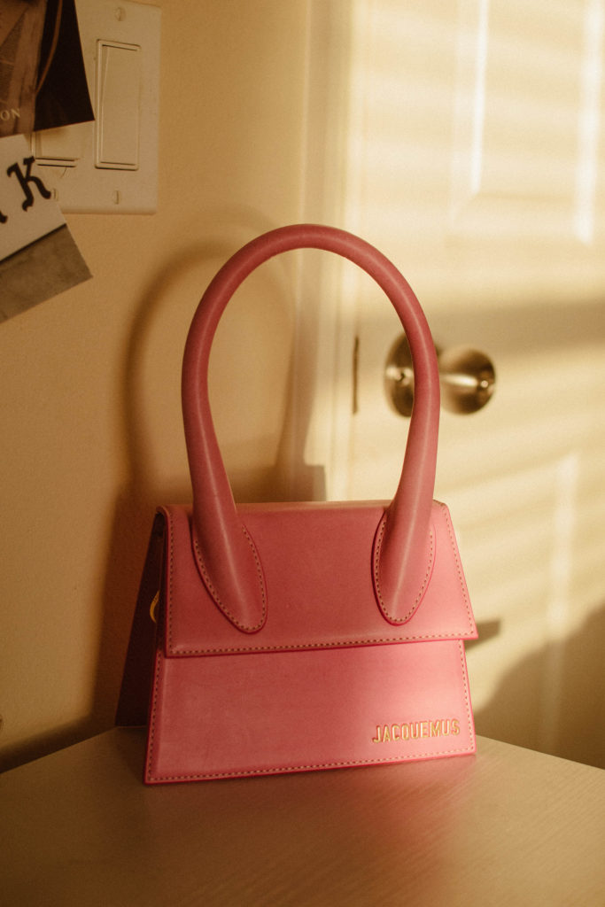 Jacquemus Le Chiquito Moyen/top-handle bag in pink
