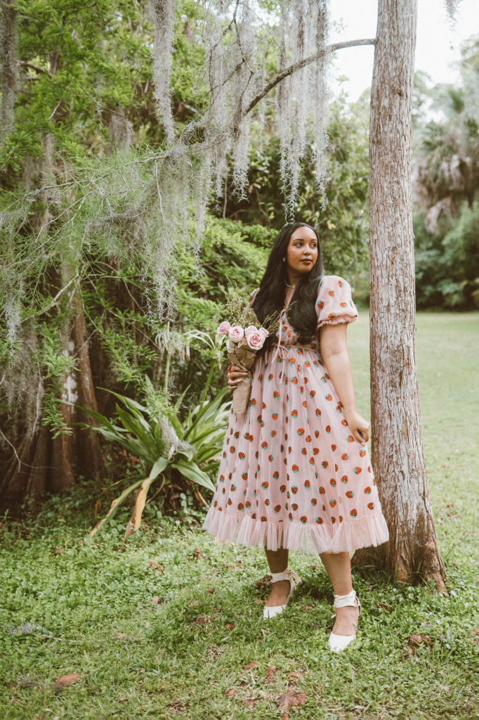 Lirika Matoshi Strawberry Midi Dress