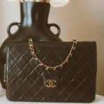 Vintage Chanel tall single flap bag
